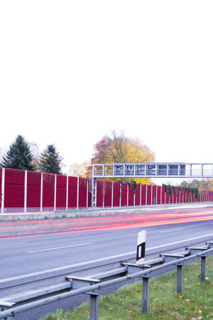 red and yellow light trails on german autobahn