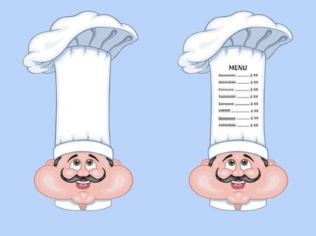 Chef Hat Menu is an vector based illustration document. In this cartoon design is two different objects with menu text and without menu text. The menu text types were converted to outlines and do not need any fonts.