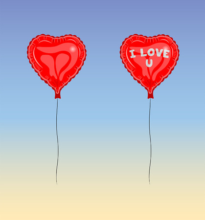 I Love U Balloon. The text types did converted to outlines and don't need any font.