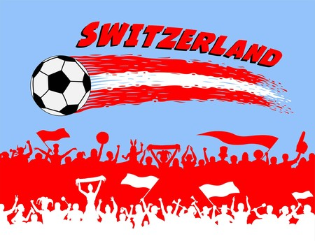 Stock photography Swiss flag on metal shiny shield illustration. Collection of flags on shield against white background. All the objects, brush strokes and silhouettes are in different layers and the text types do not need any font.