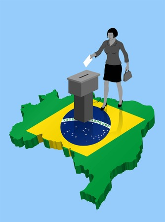 Brazilian citizen voting for Brazil. All the objects, shadows and backgrounds are in different layers.
