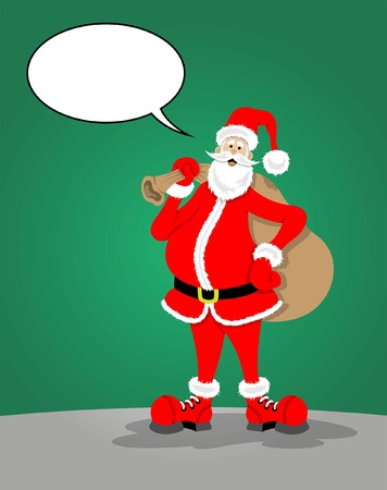 Santa Claus with speech bubble All fonts are in font. Ilustração