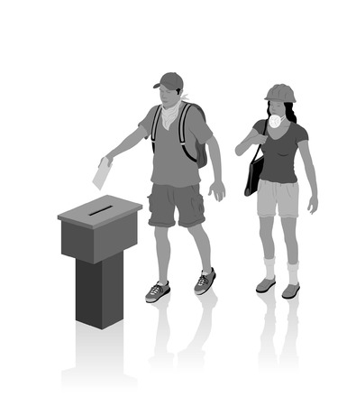 Protest voters. All Shadows and Shadows. Illustration