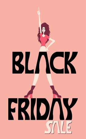 Black friday sale logo flat icon with long shadow, eps10 All fonts are in font.