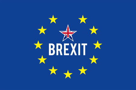 Brexit flag. All fonts are in font.