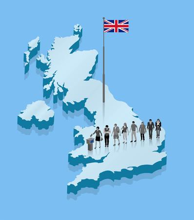 United Kingdom citizens. All Shadows and Shadows. Illustration