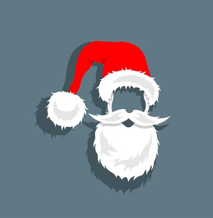 Cartoon Santa Claus head. All fonts are in font.