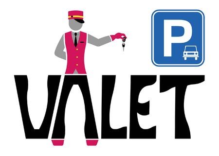 Valet logo design. All fonts are in font.