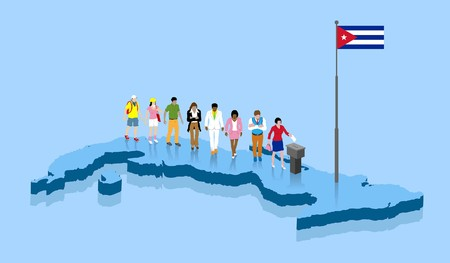 Cuban citizens. All the objects.
