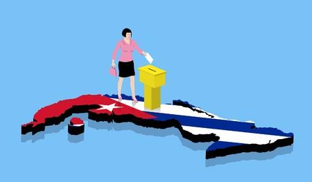 Cuban flag on Cuban flag. All the objects.