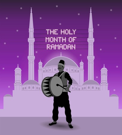 The holy month of ramadan mahya lights ramadan drummer. All types of objects.