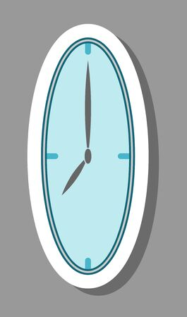 Clock icon that symbolizes timing and time management. All the objects, shadows and background are in different layers.