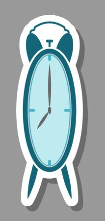 Alarm clock icon that symbolizes timing and deadline. All the objects, shadows and background are in different layers.