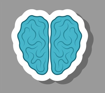 Brain icon that symbolizes idea and Creativity. All the objects, shadows and background are in different layers.