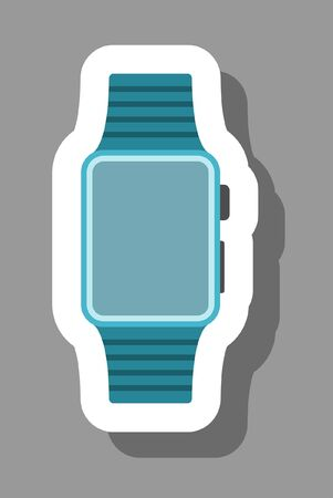 Smartwatch icon for presentation symbols. All the objects, shadows and background are in different layers.