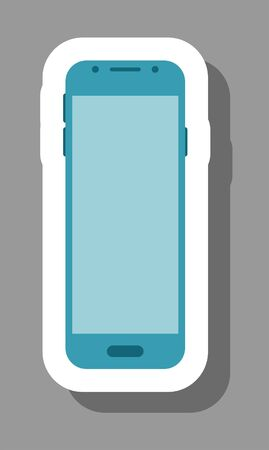 Smartphone icon for presentation symbols. All the objects, shadows and background are in different layers.