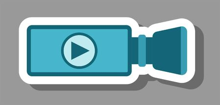 Play icon that symbolizes video and movie. All the objects, shadows and background are in different layers.