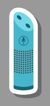 Wireless smart speaker icon that symbolizes home assistants. All the objects, shadows and background are in different layers.