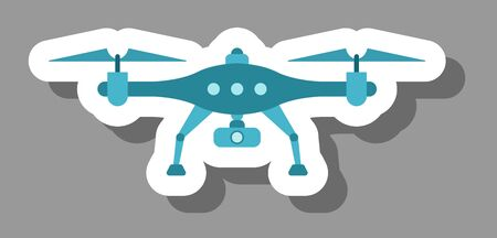Drone icon that symbolizes future technology and innovation.
