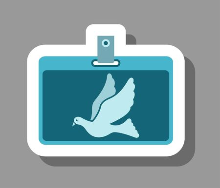 Freelancer ID card icon that symbolizes freelance worker. All the objects, shadows and background are in different layers.
