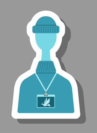 Freelancer icon that symbolizes freelance jobs. All the objects, shadows and background are in different layers.