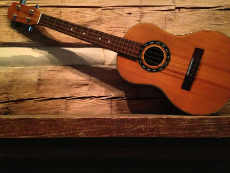 ukulele on mantle Banco de Imagens - 21943590