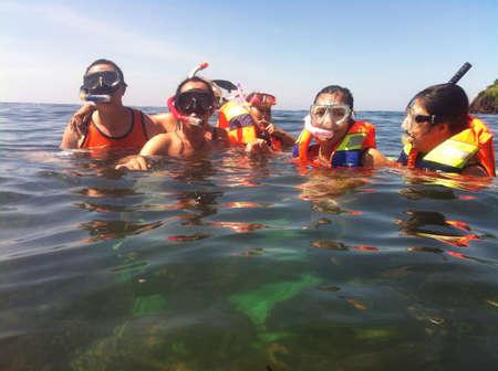 snorkling: Enjoy the first snorkling