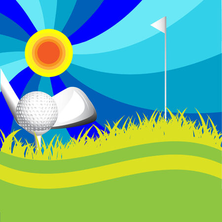 abstract texture with ball for golf on herb Vector