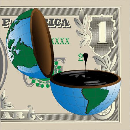 benzine: Oil And Dollars Illustration