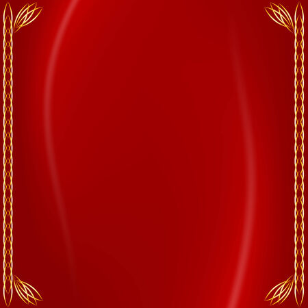 material: Texture material red silk with golden border