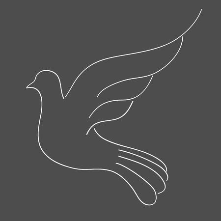 White Dove Vector
