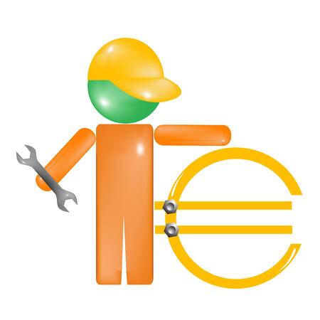Repair Euro Stock Vector - 6878876