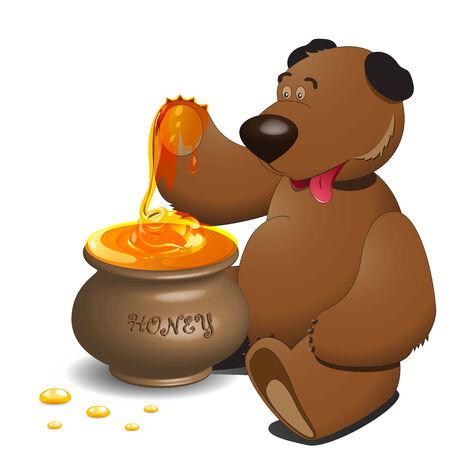 honey pot: Bear and honey