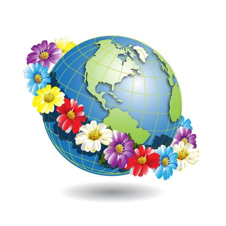 planisphere: Globe in wreath