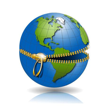 planisphere: Globe on lock