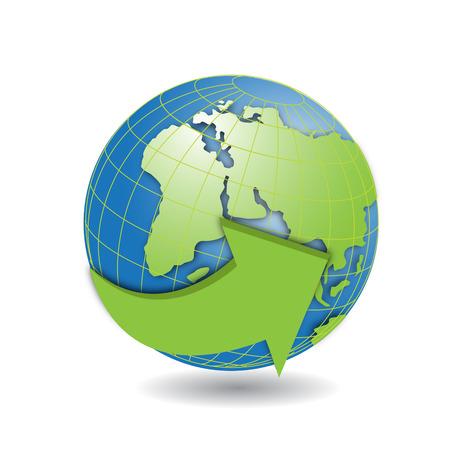 planisphere: Globo Vettoriali