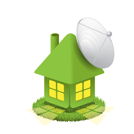 House with antenna Vector