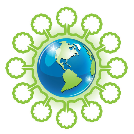 planisphere: Globo e albero