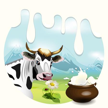 Cow  Stock Vector - 7110748