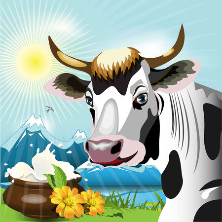 Cow  Stock Vector - 7110749
