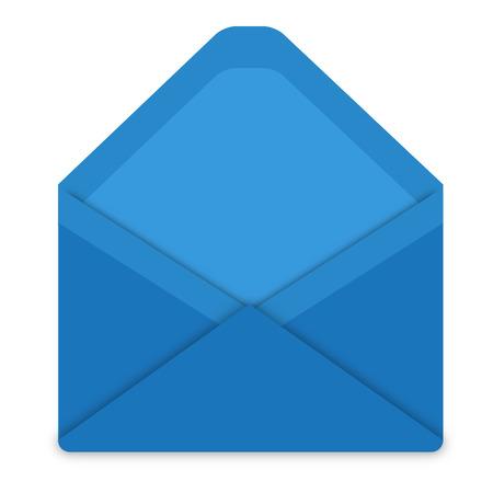 posted: Blue envelope Illustration