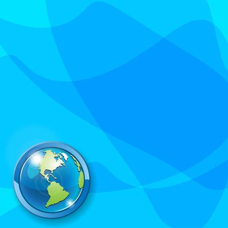 planisphere: Globe on blue