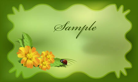 dekor: Postcard with bug Illustration