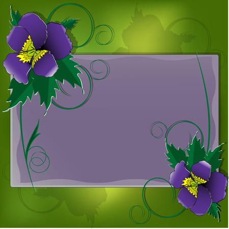 dekor: Postcard with violet Illustration