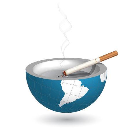 smouldering cigarette: smoking
