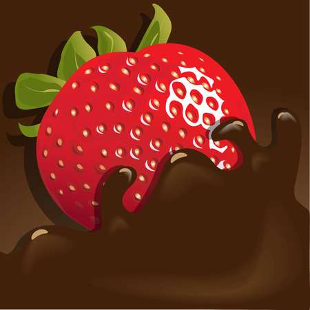 sour cream: Strawberry in chocolate