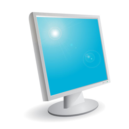 monitor Stock Vector - 7186159