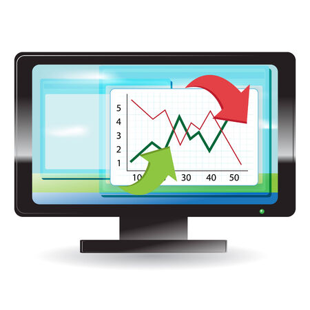 monitor Stock Vector - 7360017