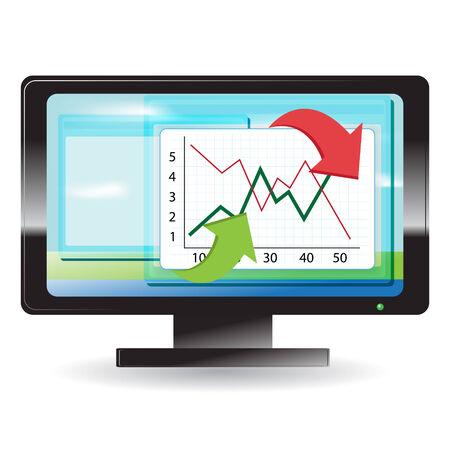 monitor Stock Vector - 7360017