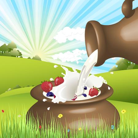 agrio: leche  Vectores